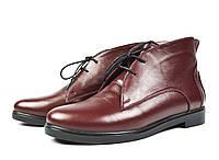 Бордовые осенние кожаные ботинки WRIGHT для повседневной носки ( новинка весна, осень ) , фото 1