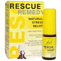 Bach, Оригинальные цветочные лекарства, Rescue Remedy, натуральный спрей для снятия стресса, 0,245 жидкой унции (7 мл)