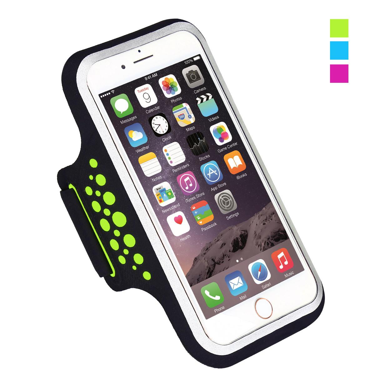 Спортивный чехол на руку для смартфонов Sea & sky размер телефона 16х8 см зеленый