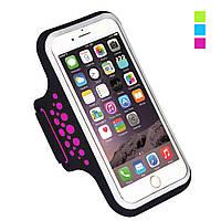 Спортивный чехол на руку для смартфонов Sea & sky размер телефона 14х7 см розовый