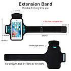 Спортивный чехол на руку для смартфонов Sea & sky размер телефона 16х8 см голубой, фото 2