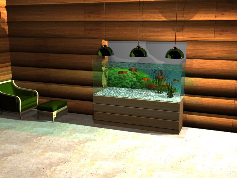 3D моделирование внешнего оформления аквариумов