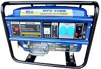 Бензогенератор WERK WPG6500 - мощность макс. 5.5 кВт (ном. 5кВт), бак 25 л, ручн. старт, вес 86 кг BPS