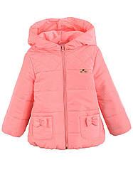 Детская демисезонная куртка ЗИНА на флисе для девочки, в расцветках, р.86-104