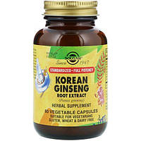 Solgar, Korean Ginseng Root Extract, 60 Vegetable Capsules