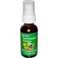 Flower Essence Services, Environmental Solution, тысячелистник, спрей, 1 жидкая унция (30 мл)