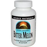 Source Naturals, Китайская горькая тыква (Bitter Melon), 60 капсул