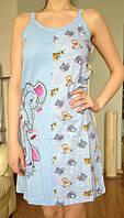 Хлопковая ночнушка, женская ночная сорочка ТМ Dalmina, Турция, 100% хлопок. Разные цвета, размеры.