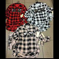 Рубашки детские  в клеточку для девочек оптом  ИТАЛИЯ