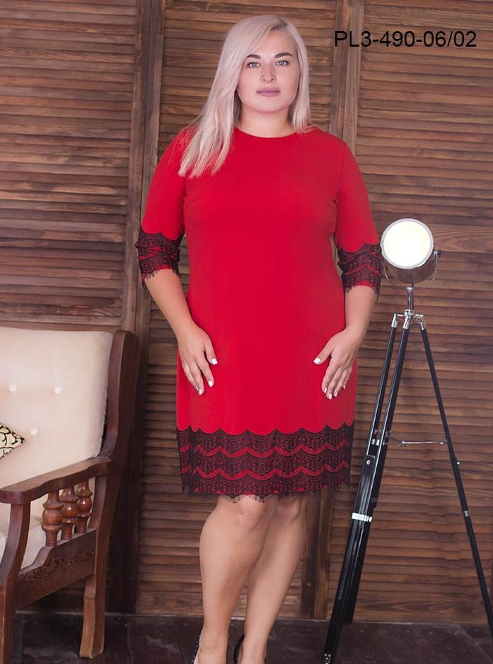 4b6fd60a58c7 Батальное платье с кружевом 52,54,56,58р