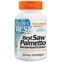 Doctors Best, Пальма сереноа, стандартизированный экстракт с Евромед, 320 мг, 60 капсул