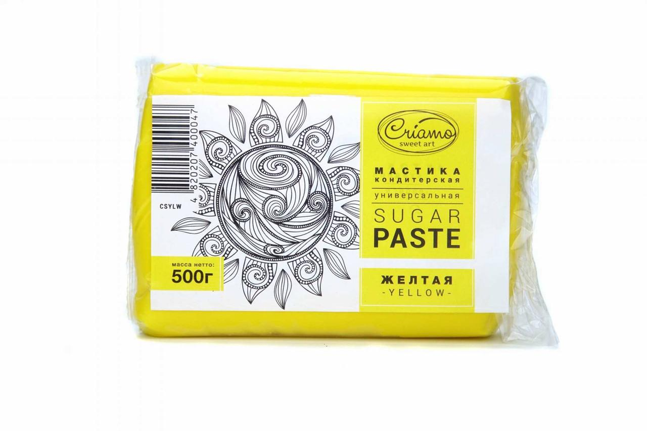 """Мастика для обтягування """"Criamo"""", жовта (0,5 кг)"""