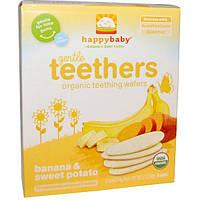 Nurture Inc. (Happy Baby), Gentle Teethers, органические вафли для прорезывния, банан и сладкий картофель, 12 шт (в упаковке по 2), 4 г (0,14 унций)