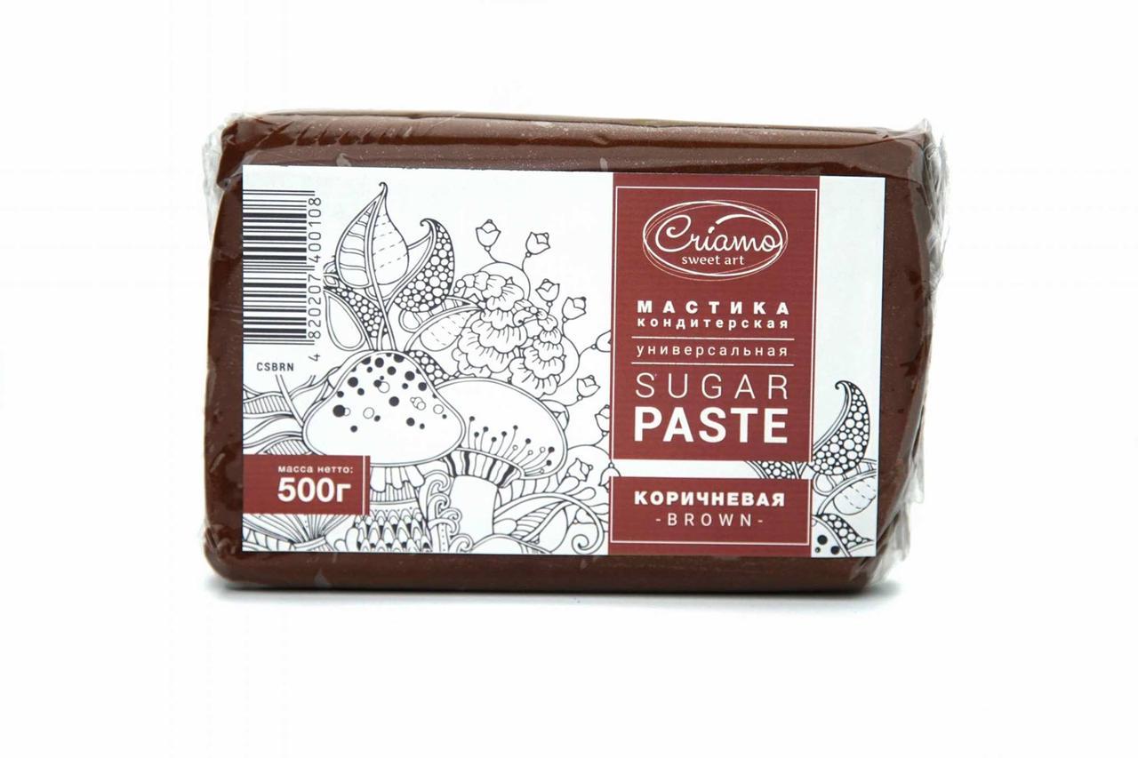 """Мастика для обтяжки """"Criamo"""", коричневая (0,5 кг)"""