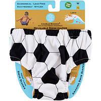 Charlie Banana, Многоразовый подгузник для плавания, футбольный узор, большого размера, 1 подгузник