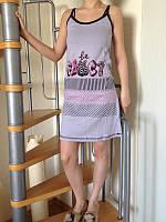 Хлопковая ночнушка, женская ночная сорочка ТМ Dalmina Secret, Турция, 100% хлопок. Разные цвета, размеры.