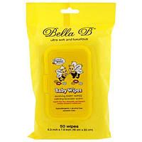 Bella B, Влажные салфетки для малышей, успокаивающий аромат лаванды, 50 салфеток - 6,3 х 7,9 дюймов