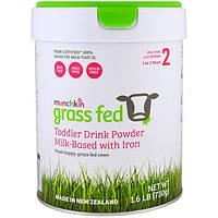 Munchkin, Grass Fed, Порошок для приготовления детской смеси, На основе молока с железом, Для детей от 1 до 3 лет, 1,6 фунта (730 г)
