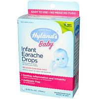 Hylands, Капли от ушной боли для младенцев, 0,33 жидкой унции (10 мл)