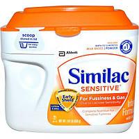Similac, Чувствительная, младенческая формула с железом, от рождения до 12 месяцев, 638 г (1,41 фунта)