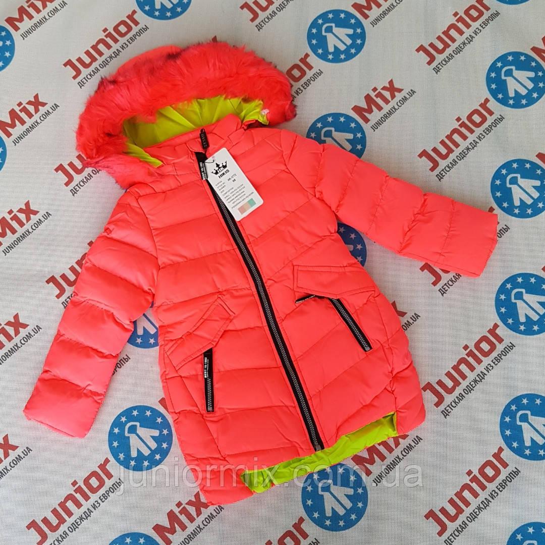 Зимові дитячі куртки для дівчаток оптом HIKIS