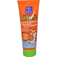 Kiss My Face, Страстно натуральные дети, апельсиновое средство для умниц, детский шампунь-кондиционер, 8 жидких унций (236 мл)