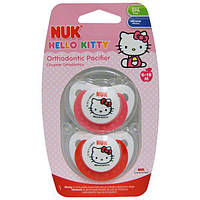NUK, Ортодонтическая пустышка Hello Kitty, от 6 до 18 мес., 2 шт.