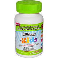 Focus Factor, Добавка для детей Focusfactor, ягодный взрыв, 60 жевательных пластинок