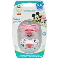 NUK, Ортодонтическая соска Disney Baby Minnie Mouse, 0-6 месяцев, 2 шт