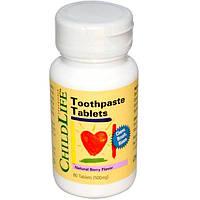 ChildLife, Essentials, Таблетки с зубной пастой с ароматом натуральных ягод, 500 мг, 60 таблеток
