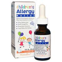 NatraBio, Средство против аллергии для детей, формула без спирта, жидкая форма, 1 жидкая унция (30 мл)