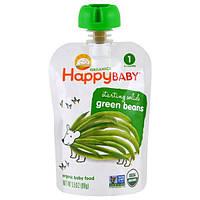 Nurture Inc. (Happy Baby), Органическое детское питание, зеленая фасоль, 1-й этап, 3,5 унции (99 г)
