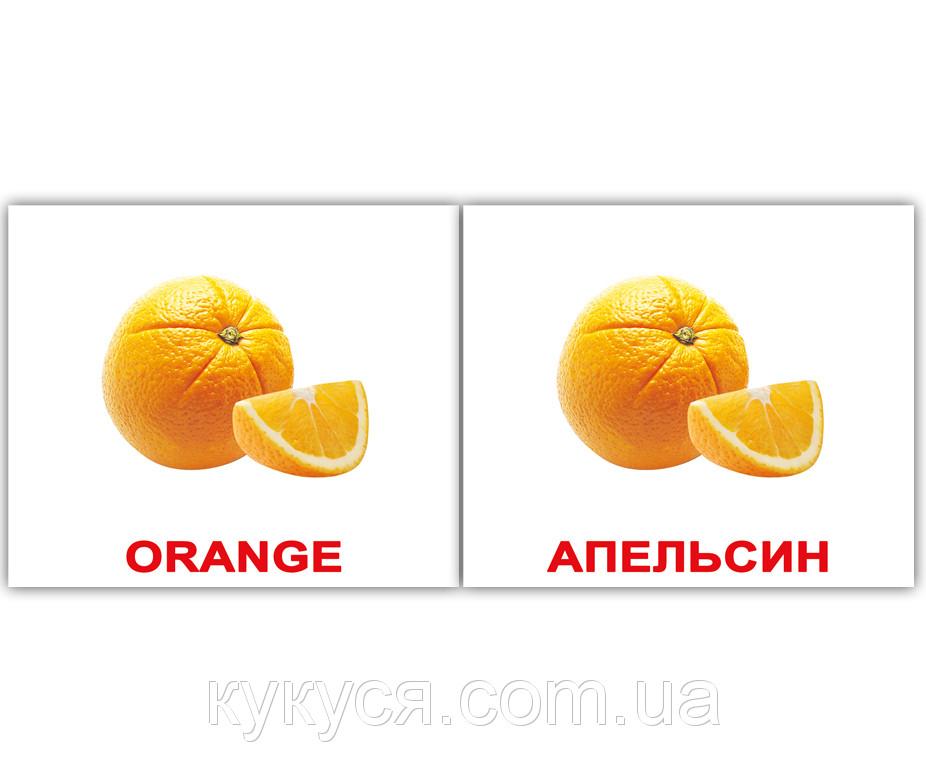 Комплект карточек «Fruit/Фрукты» МИНИ 40
