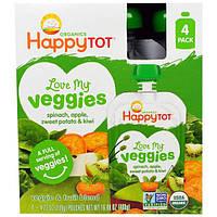 Nurture Inc. (Happy Baby), Обожаю свои овощи из серии Счастливый карапуз, органическая фруктово-овощная смесь cо шпинатом, яблоком, бататом и киви, 4