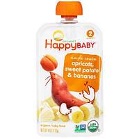 Nurture Inc. (Happy Baby), Органическое детское питание, этап 2, с 6 месяцев, абрикос и батат, 3,5 унции (99 г)