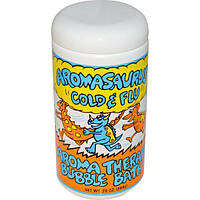 Abra Therapeutics, Aromasaurus Cold & Flu, пена для ванн при простуде или гриппе, 20 унций (566 г)