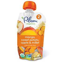 Plum Organics, Органическое детское питание, этап 2, манго, сладкий картофель, яблоко и просо, 3,5 унций (99 г)