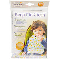 Summer Infant, Keep Me Clean, одноразовые слюнявчики, 20 слюнявчиков