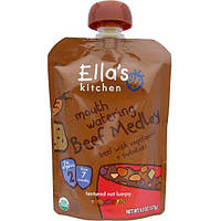 Ellas Kitchen, Аппетитная смесь из говядины, говядина с овощами и картофелем, 4,5 унции (127 г)