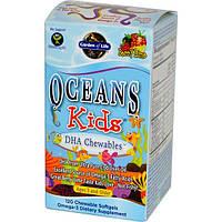 Garden of Life, Oceans Kids, DHA Chewables, от трх лет и старше, с лаймом, 120 жевательных таблеток