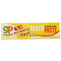 GreenPeach, Детская зубная паста со вкусом клубники, 0.85 унции (24 г)