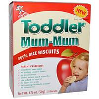Hot Kid, Toddler Mum-Mum, яблочное, рисовое печенье, 20 печений, 1,76 унции (50 г)