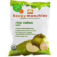 Nurture Inc. (Happy Baby), Счастливый перекус, рисовые кексы с яблоком, 1.4 унций (40 г)