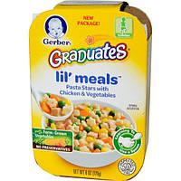 Gerber, Graduates for Toddlers, Lil Meals, макароны в форме звездочек с курицей и овощами, 6 унций (170 г)