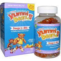Hero Nutritional Products, Yummi Bears, Омега-3 + ДГК, натуральные фруктовые вкусы, 90 шт.