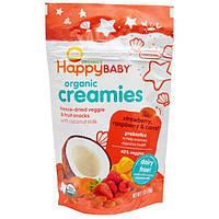 Nurture Inc. (Happy Baby), Nurture Inc. (Happy Baby), органический крем, закуска из сублимированных овощей и фруктов, клубника, малина и морковь, 1