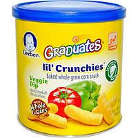 Gerber, Graduates, Lil Crunchies, Veggie Dip, для детей, которые уже могут ползать, 1.48 унции (42 g)