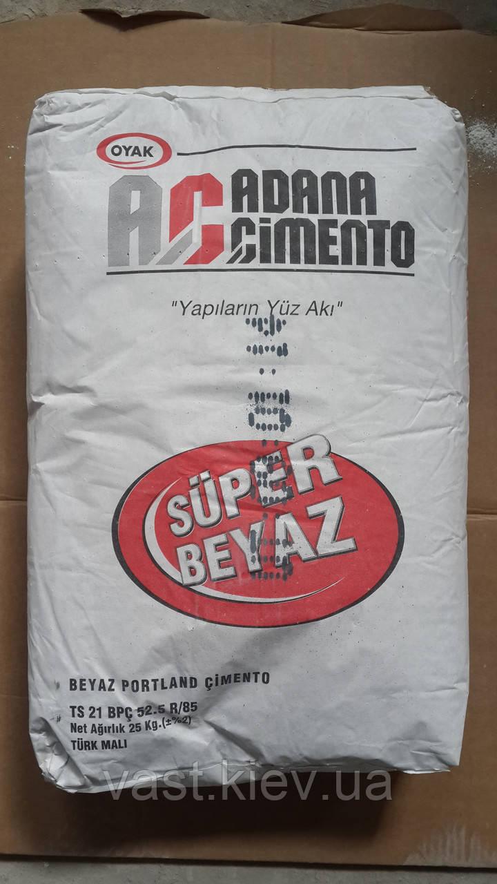 Белый цемент ADANA (пр-во Турция) 25 кг, 62 мешка в паллете