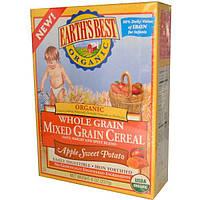 Earths Best, Органическая смесь цельно-зерновых злаковых хлопев, яблока и сладкого картофеля, 8 унций (227 г)