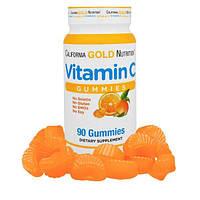 California Gold Nutrition, CGN, Жевательные конфеты с витамином C, 90 штук